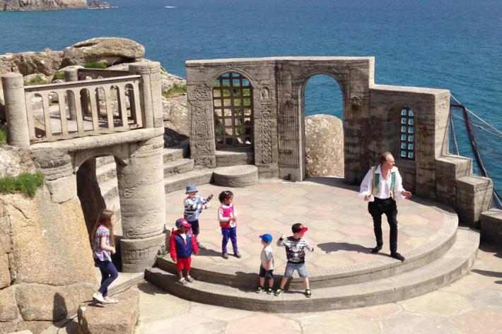 John Brolly as Mr McCauley recreates The Tempest with a group of children
