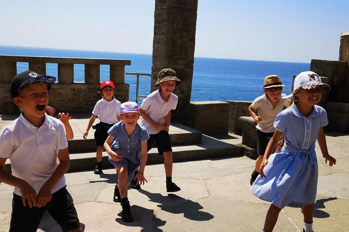 Children enjoying a workshop