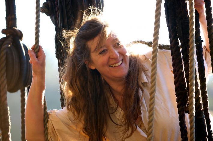 Bec Applebee as Mary on a sailing ship