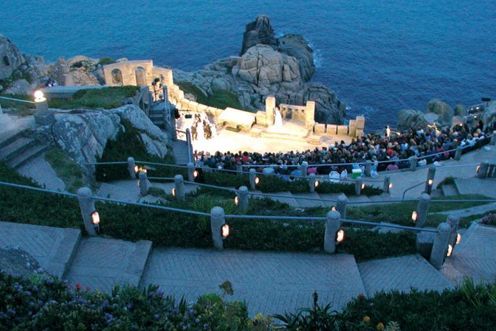 An evening performance at the Minack