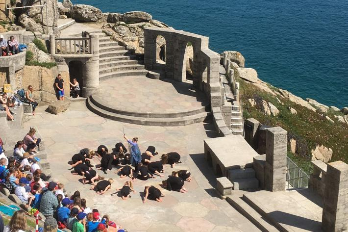 A workshop on the Minack stage