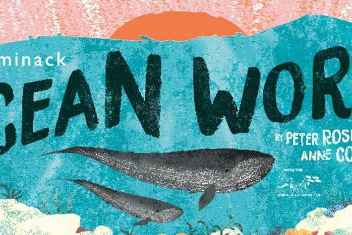Ocean World poster image of a whale in the ocean